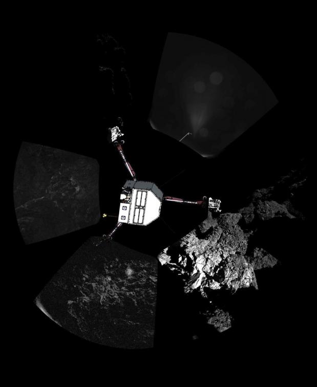Image de la comète 67P photographié par Philae. © /ESA/Rosetta/Philae/CIVA/IAS-CNRS, 2014
