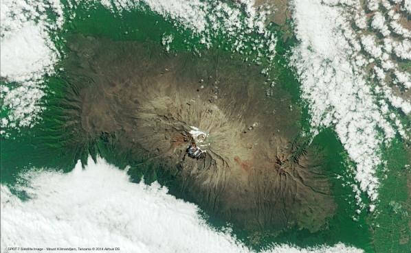 Spot 7 le Kilimandjaro 3 juillet 2014