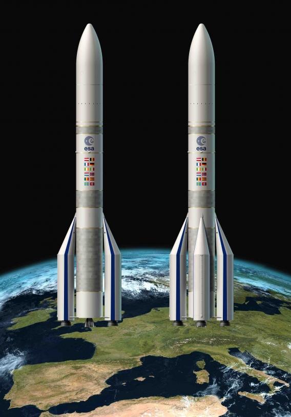 Les deux versions Ariane 62 et Ariane 64.